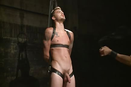 straight stud pinched and tortured by master