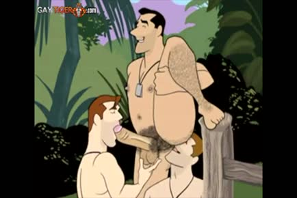 Gay army cartoon WW2