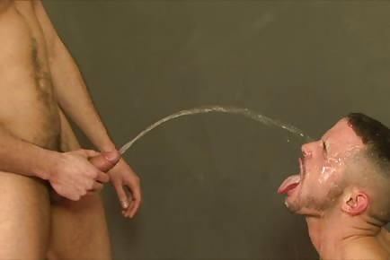 Raunchy New York pigs piss and jizz in each other's mouths