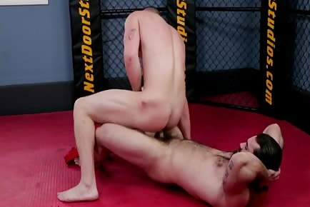 Male wrestling practice interrupted for a different kind of dominance