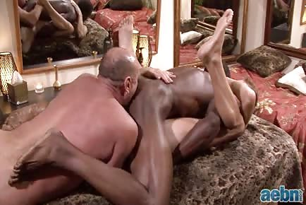 cougar dude Interracial Threesome With Jacked ebony man
