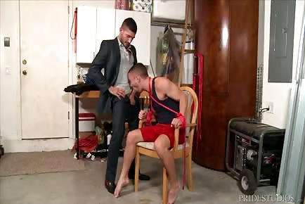 Tied Up And drilled In Garage-Honey I'm Home