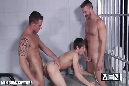 Johnny Rapid Jail Taking 2 Dick in His Ass At Same Time