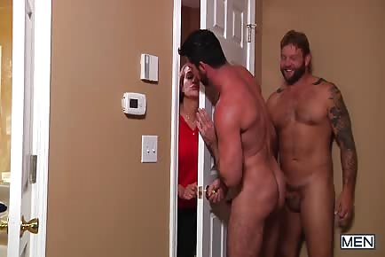 Billy Santoro hides from gf to fuck Colby Jansen
