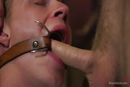 Forcing big cock hunk to go hardcore bdsm