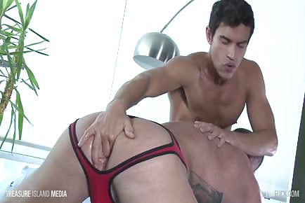 humongous cock stud Rafael Carreras raw fucks Dolf Dietrich and jizzes