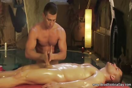 Cock massage with oil tutorial
