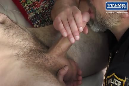 superb POLICE daddy Dirk Caber mounts his furry BF