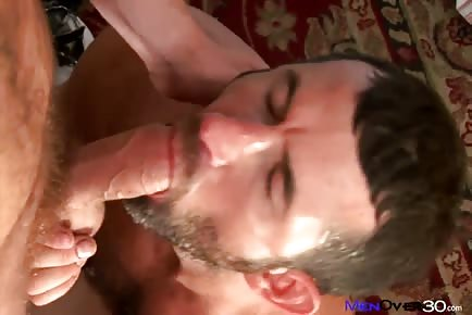 Brian Bonds sniffing hairy bear daddy CJ Parker