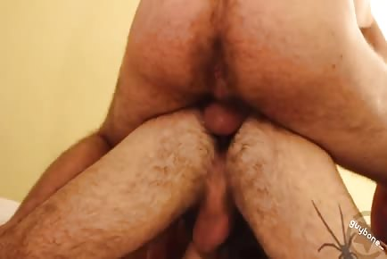 hairy butt Otter Gets furry Double Anal Penetration