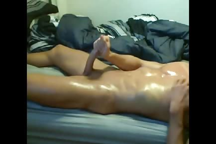 Oiled Jock Explosive Webcam Cumshot