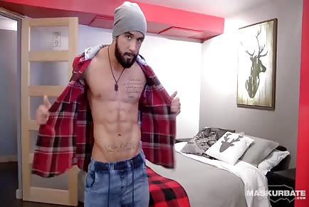 GORGEOUS hetero Lumberjack from Canada jock Shows Off sexy dick