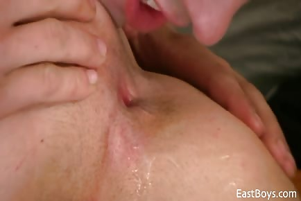 Big cock Czech BF dick sucked and man hole licked in tent